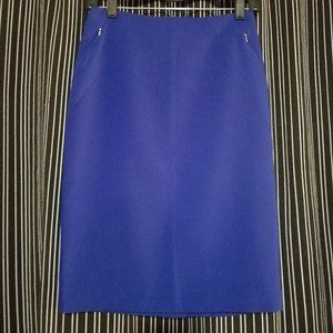 Electric cobalt Blue zip pencil skirt The Limited